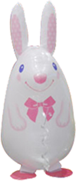 Silk White Bunny Airwalker 24in/60cm