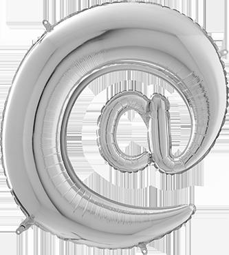 Silver € Foil Letter 26in/66cm