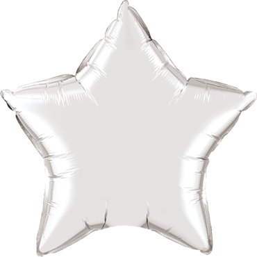Silver 6 Point Foil Star 22in/55cm