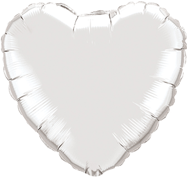 Silver Foil Heart 4in/10cm