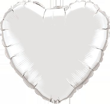 Silver Foil Heart 9in/22.5cm