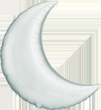 Silver Foil Moon 9in/22.5cm