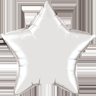 Silver Foil Star 9in/22.5cm