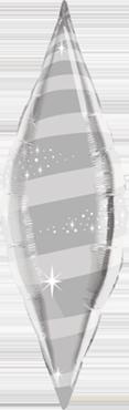 Silver Foil Taper Swirl 38in/95cm
