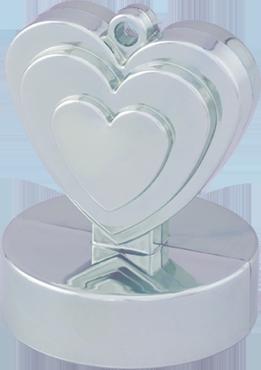 Silver Heart Weight 110g 62mm