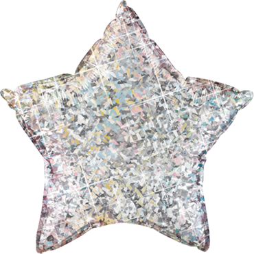 Silver Holographic Foil Star 20in/50cm