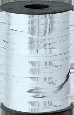 Silver Metallic Curling Ribbon 5mm x 250m