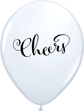 Simply Cheers Standard White Latex Round 11in/27.5cm