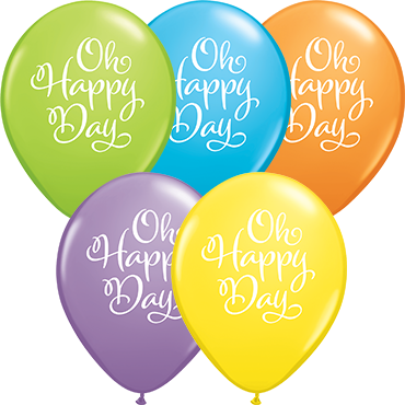 Simply Oh Happy Day Bright Pastel Assortment Latex Round 11in/27.5cm