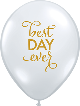 Simply The Best Day Ever Crystal Diamond Clear (Transparent) Latex Round 11in/27.5cm