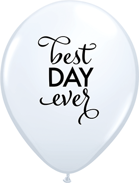Simply The Best Day Ever Standard White Latex Round 11in/27.5cm