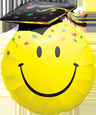 Smile Face Party Grad Foil Shape 36in/90cm