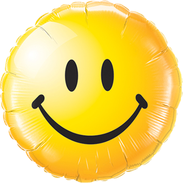 Smiley Face Yellow Foil Round 18in/45cm