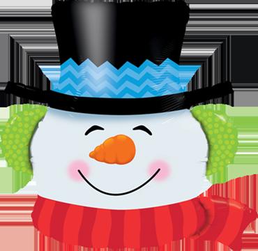 Smilin Snowman Foil Shape 36in/90cm