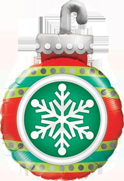 Snowflake Ornament Foil Shape 35in/89cm