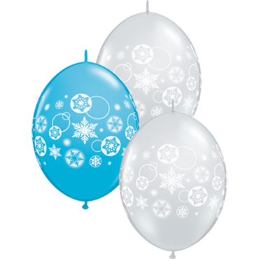 Snowflakes and Circles Fashion Robins Egg Blue and Crystal Diamond Clear (Transparent) Assortment QuickLink 12in/30cm