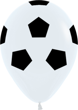 Soccer Ball Fashion White Latex Round 11in/27.5cm
