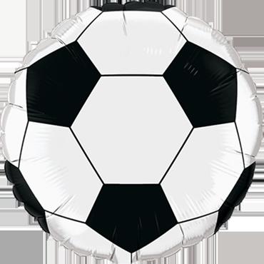 Soccer Ball Foil Round 18in/45cm