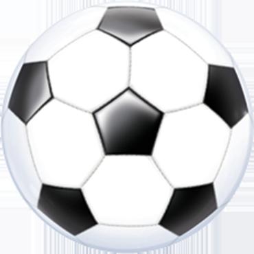Soccer Ball Single Bubble 22in/55cm