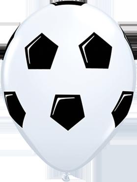 Soccer Ball/Football Standard White Latex Round 11in/27.5cm