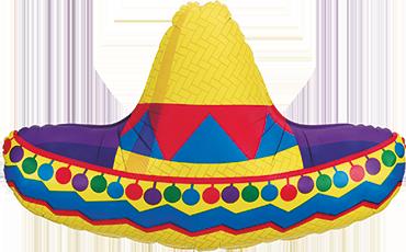 Sombrero Foil Shape 34in/86cm