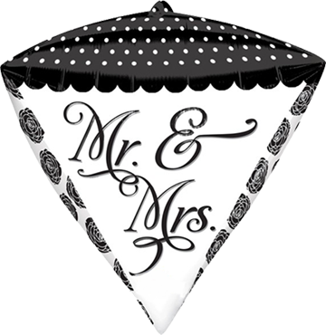 Sophisticated Mr and Mrs Diamondz 15in/38cm x 17in/43cm