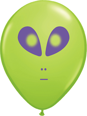 Space Alien Fashion Lime Green Latex Round 5in/12.5cm