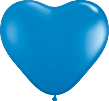 Standard Dark Blue Latex Heart 6in/15cm
