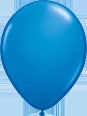 Standard Dark Blue Latex Round 5in/12.5cm