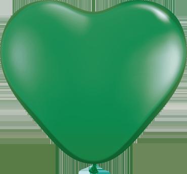 Standard Green Latex Heart 6in/15cm