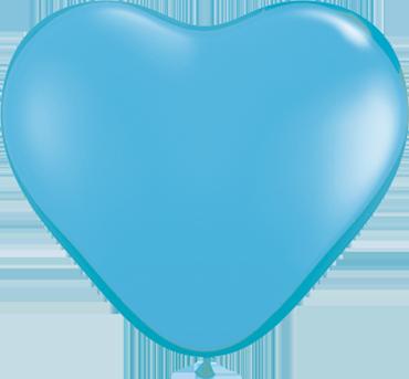 Standard Pale Blue Latex Heart 6in/15cm