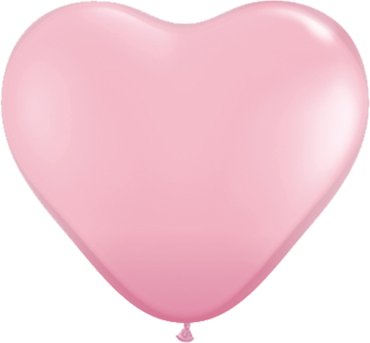 Standard Pink Latex Heart 11in/27.5cm