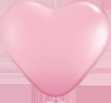 Standard Pink Latex Heart 6in/15cm