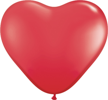 Standard Red Latex Heart 6in/15cm