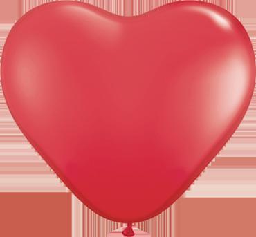 Standard Red Latex Heart 6in/15cm