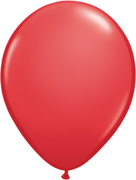 Standard Red Latex Round 5in/12.5cm