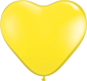 Standard Yellow Latex Heart 6in/15cm