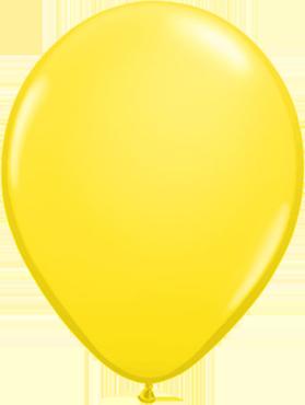 Standard Yellow Latex Round 5in/12.5cm