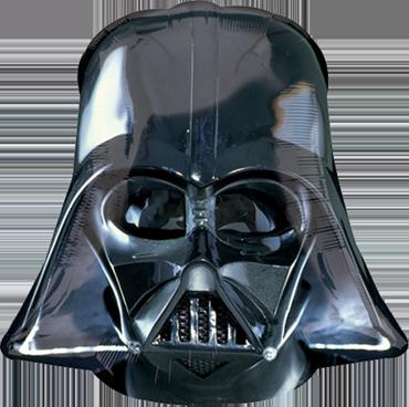 Star Wars Darth Vader Helmet Black Vendor Foil Shape 19in/48cm x 18in/45cm