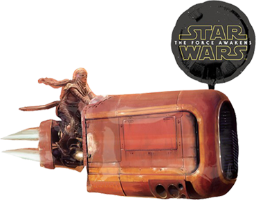 Star Wars The Force Awakens Good Characters Foil Shape 35in/80cm x 29in/73cm