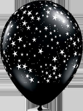 Stars Fashion Onyx Black Latex Round 11in/27.5cm