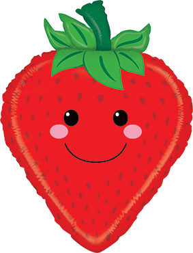 Strawberry Foil Shape 26in/66cm