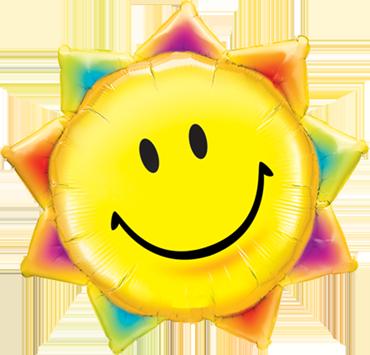 Sunshine Smile Face Foil Shape 35in/87.5cm