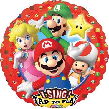 Super Mario Brothers Sing A Tune Foil Round 28in/71cm