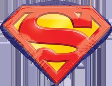 Superman Emblem Foil Shape 26in/66cm x 20in/50cm