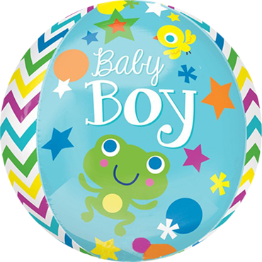 Sweet Baby Boy Orbz 15in/38cm x 16in/40cm