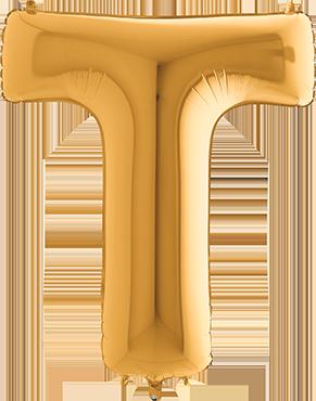 T Gold Foil Letter 7in/18cm