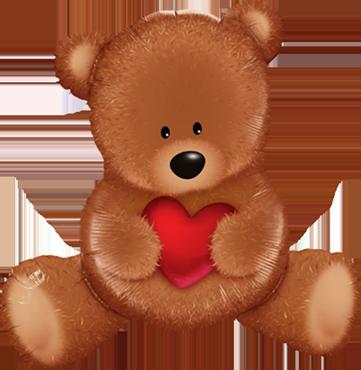 Teddy Bear Love Foil Shape 35in/89.5cm