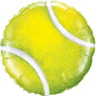 Tennis Ball Foil Round 18in/45cm