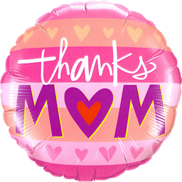 Thanks M(Heart)M Foil Round 18in/45cm